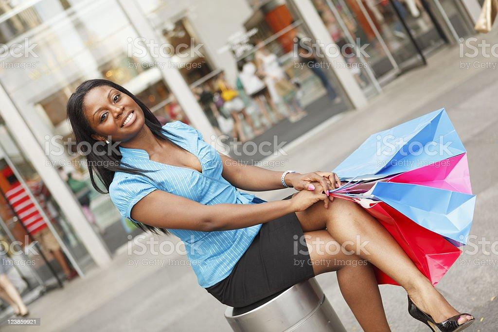 Relaxing Shopper stock photo