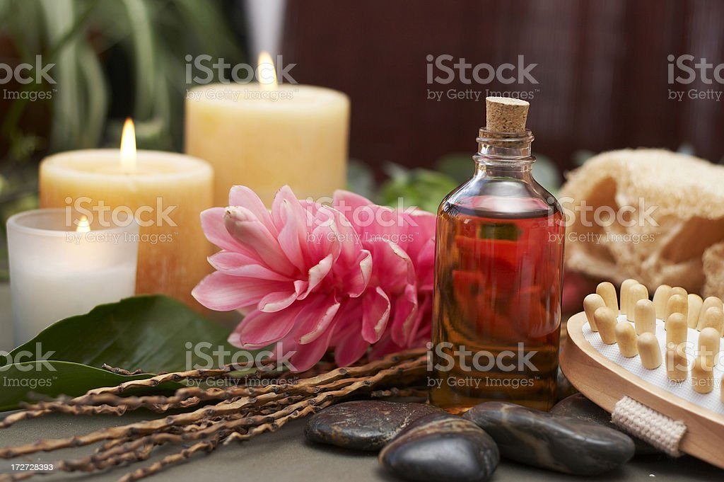 Relaxing spa scene royalty-free stock photo