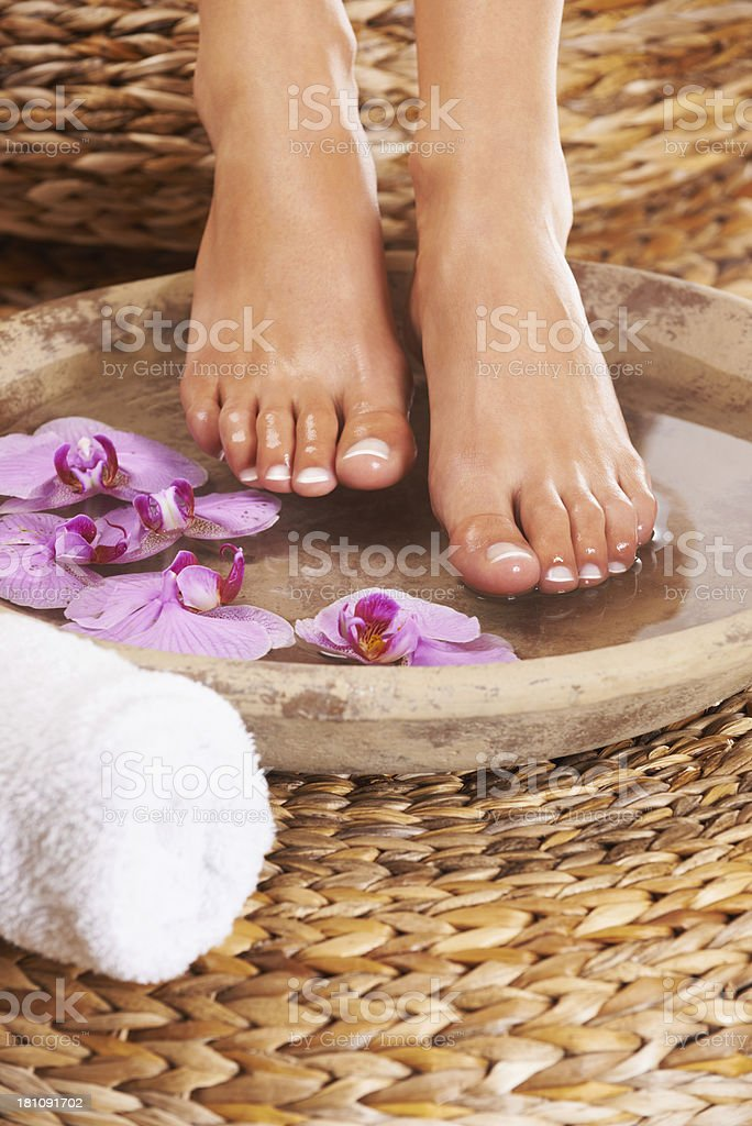 Relaxing spa treatment royalty-free stock photo