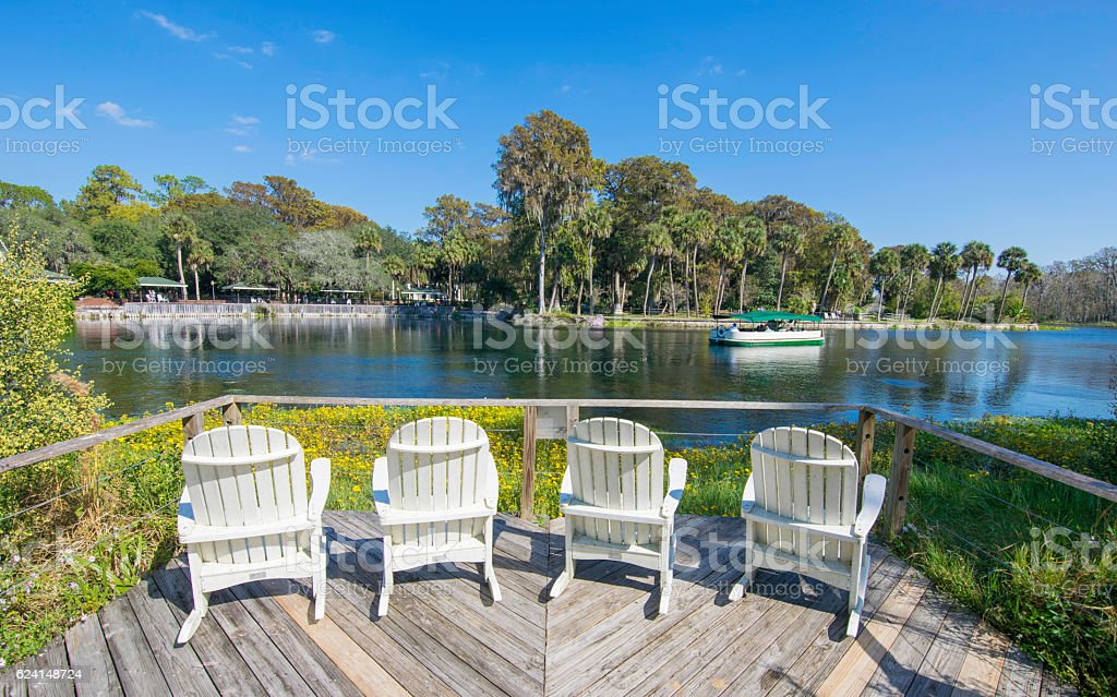 Relaxing Spot on the Silver River stock photo