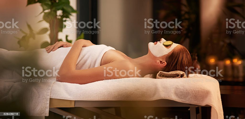 Relaxing the mind and body stock photo