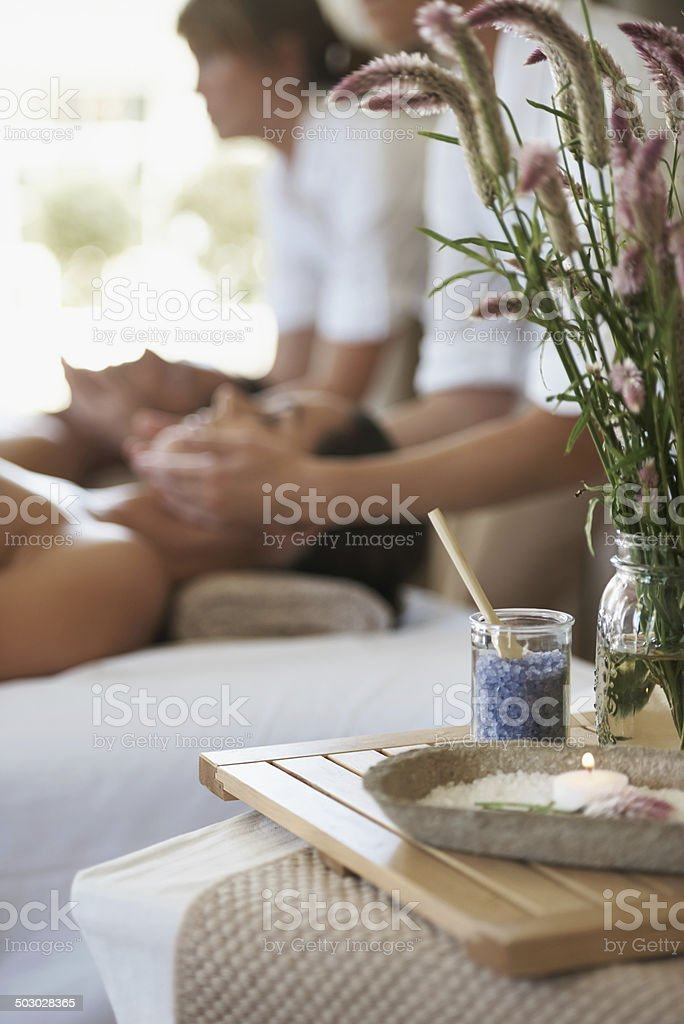 Relaxing the mind and spirit stock photo