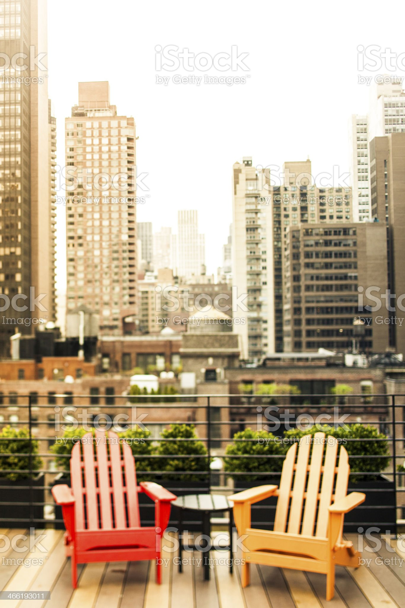 Relaxing Time In Manhattan royalty-free stock photo