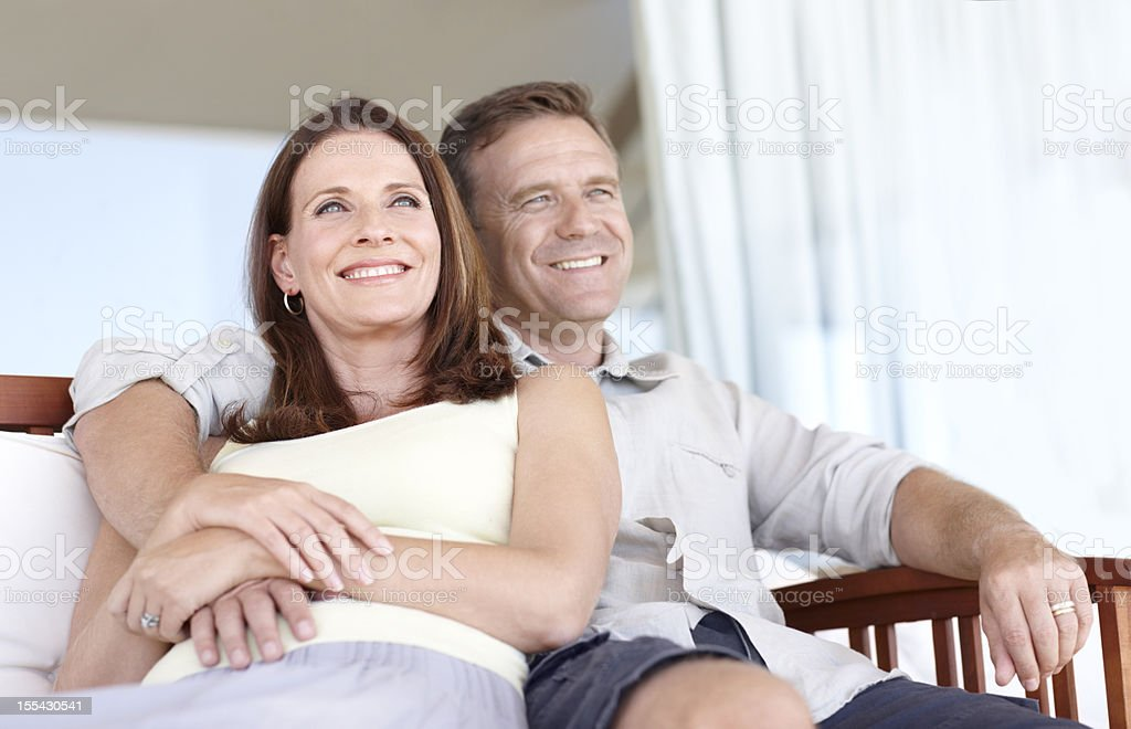 Relaxing together brings us closer royalty-free stock photo