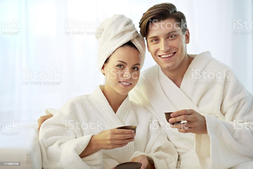 Relaxing together royalty-free stock photo