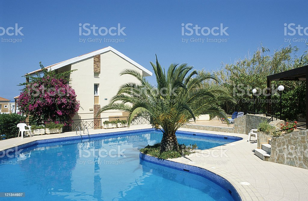Relaxing vacation getaway in the Greece Islands royalty-free stock photo