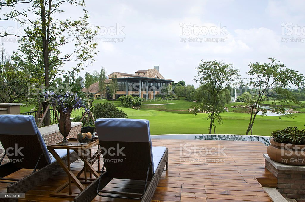 Relaxing View Golf Course stock photo