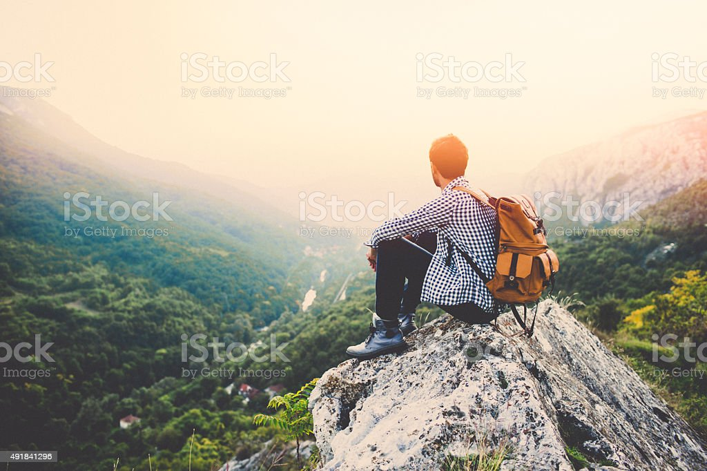 Relaxing view stock photo