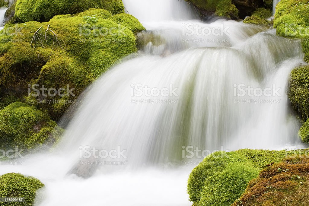 relaxing water flow royalty-free stock photo