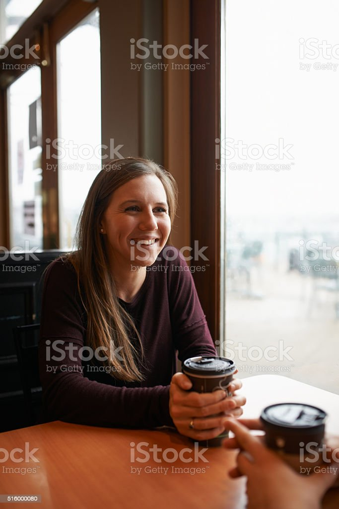 Relaxing with a fresh cup of coffee stock photo
