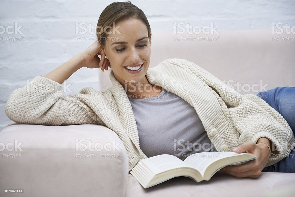 Relaxing with a good book royalty-free stock photo