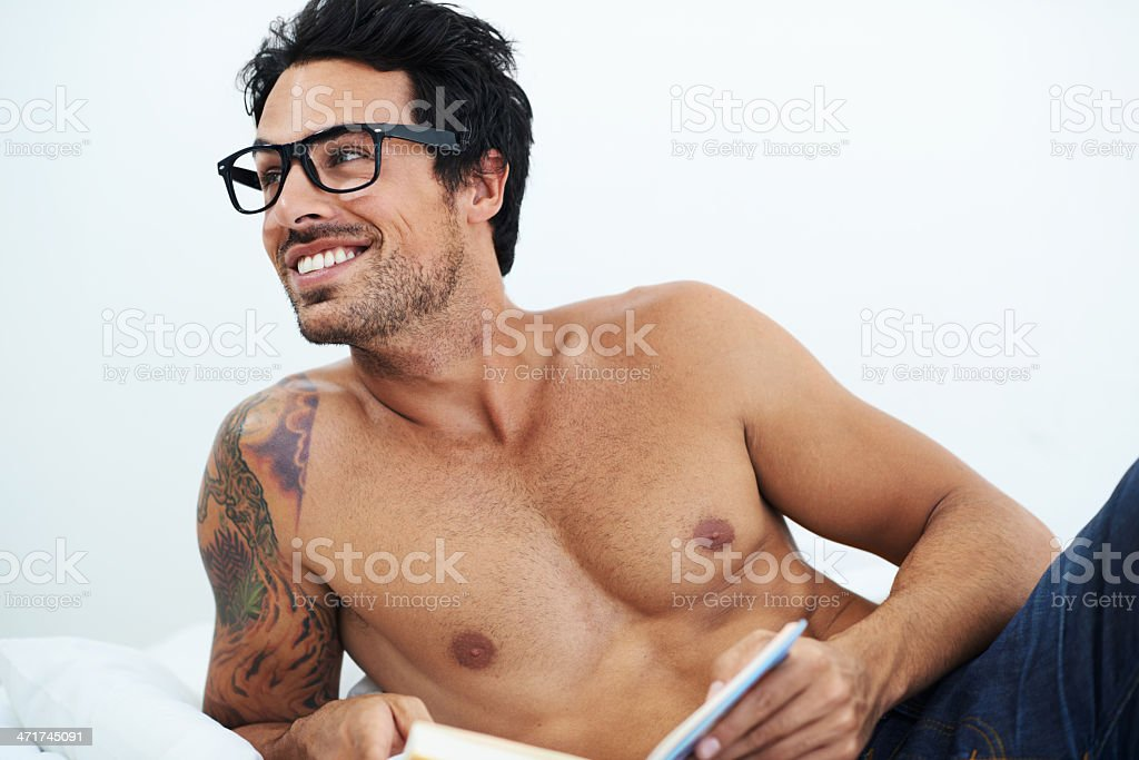 Relaxing with a good book stock photo