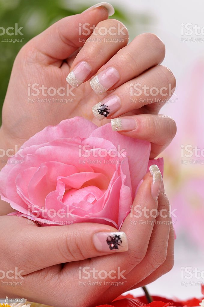 relaxing with a rose royalty-free stock photo