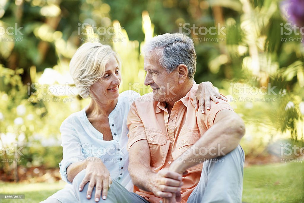 Relaxing with her other half royalty-free stock photo