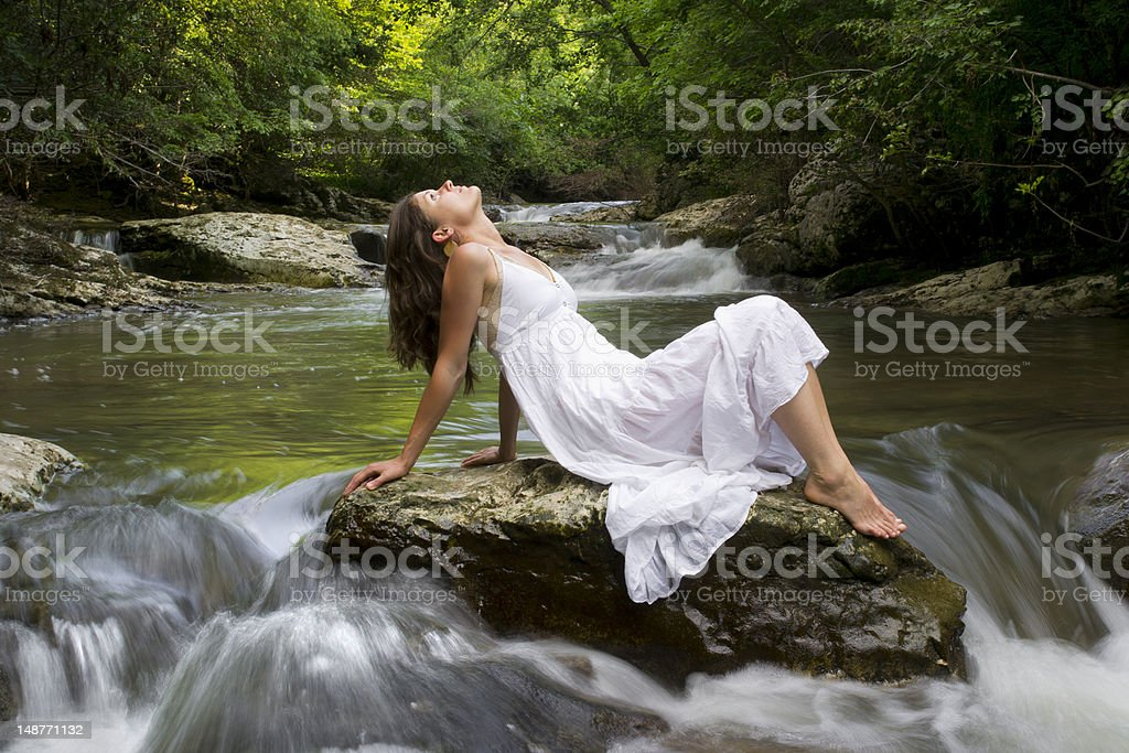 Relaxing with Nature royalty-free stock photo