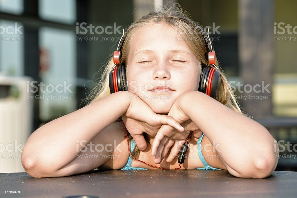 Relaxing with sound royalty-free stock photo