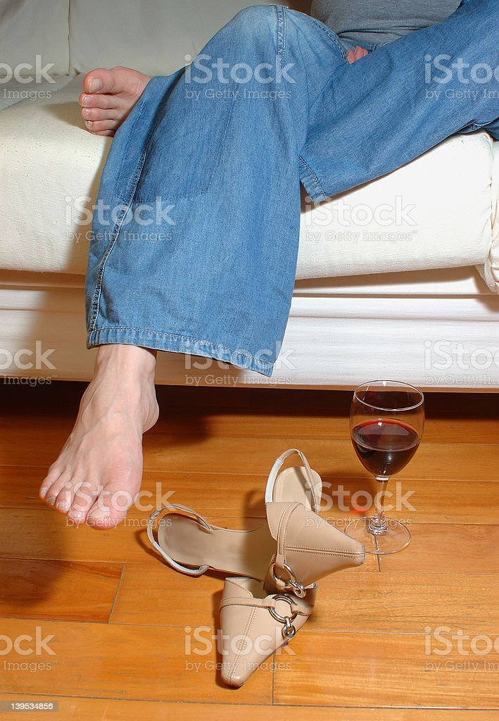 relaxing with wine 2 - a series royalty-free stock photo