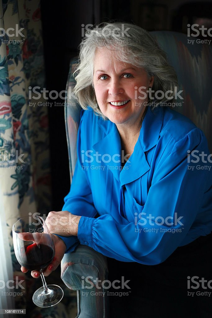 Relaxing With Wine royalty-free stock photo