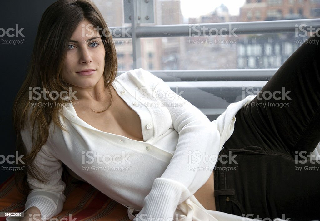 Relaxing woman royalty-free stock photo