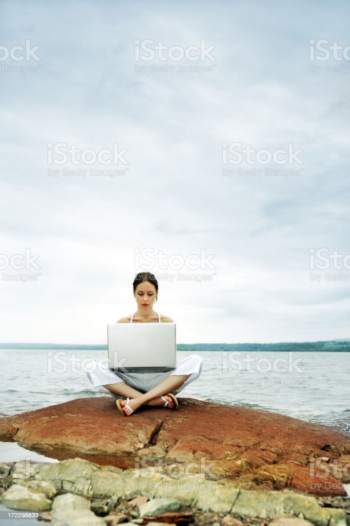 Relaxing Work royalty-free stock photo