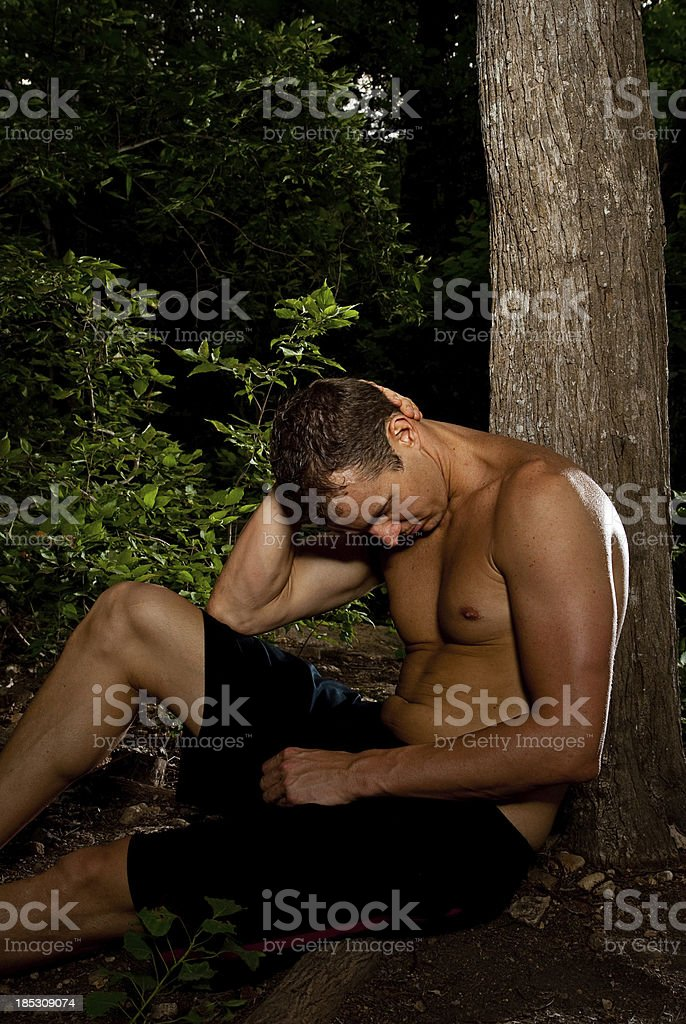 RelaxingTrail Runner royalty-free stock photo