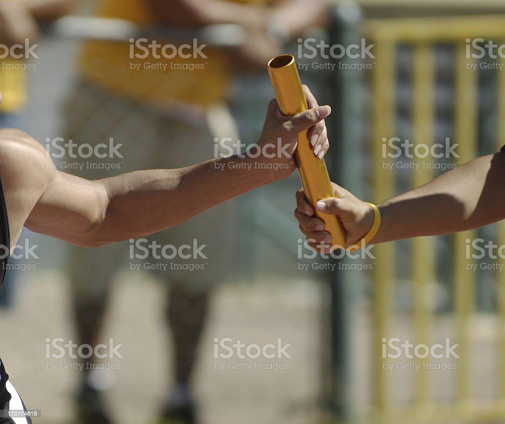 relay pass stock photo