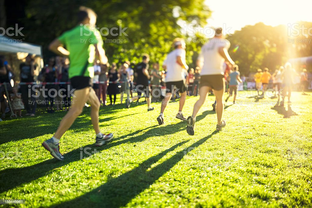 Relay Race in to the Sun royalty-free stock photo