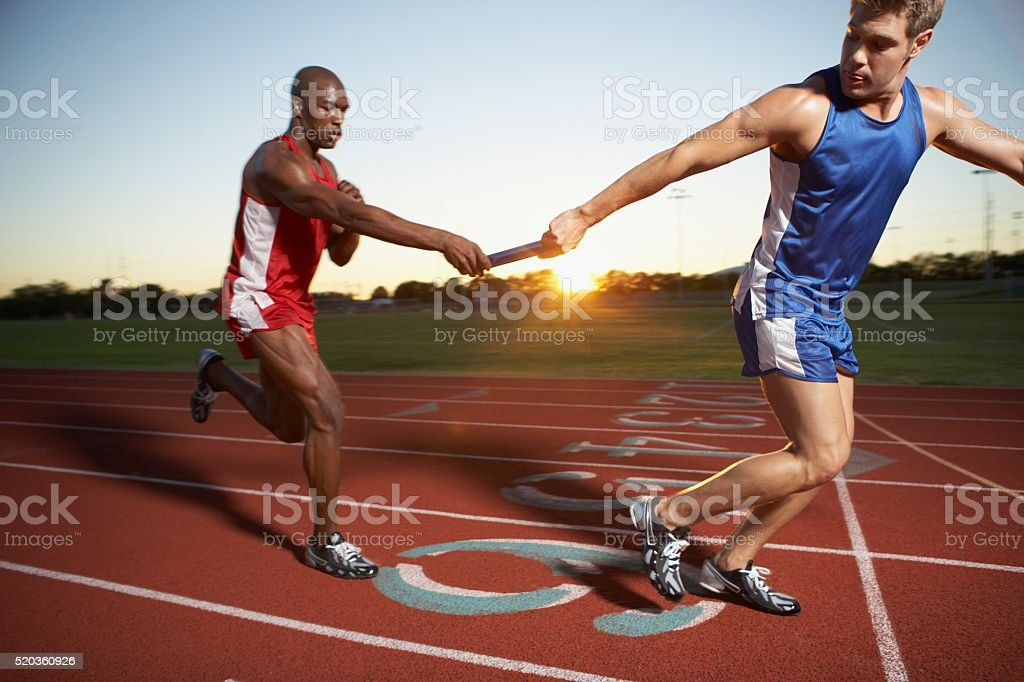 Relay race stock photo