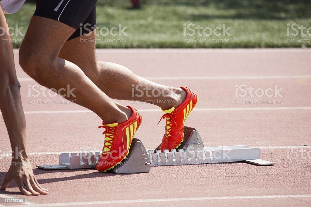 Relay Runner royalty-free stock photo