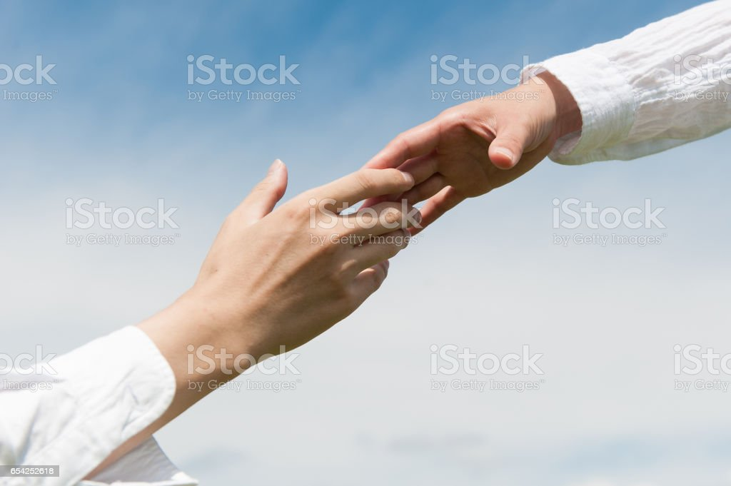 Release the hand stock photo