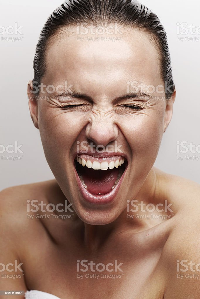 Releasing negative energy stock photo