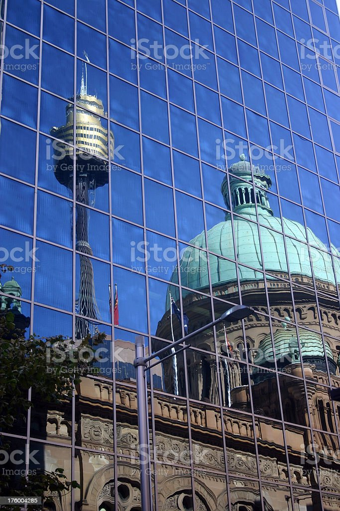 relection of sydney stock photo