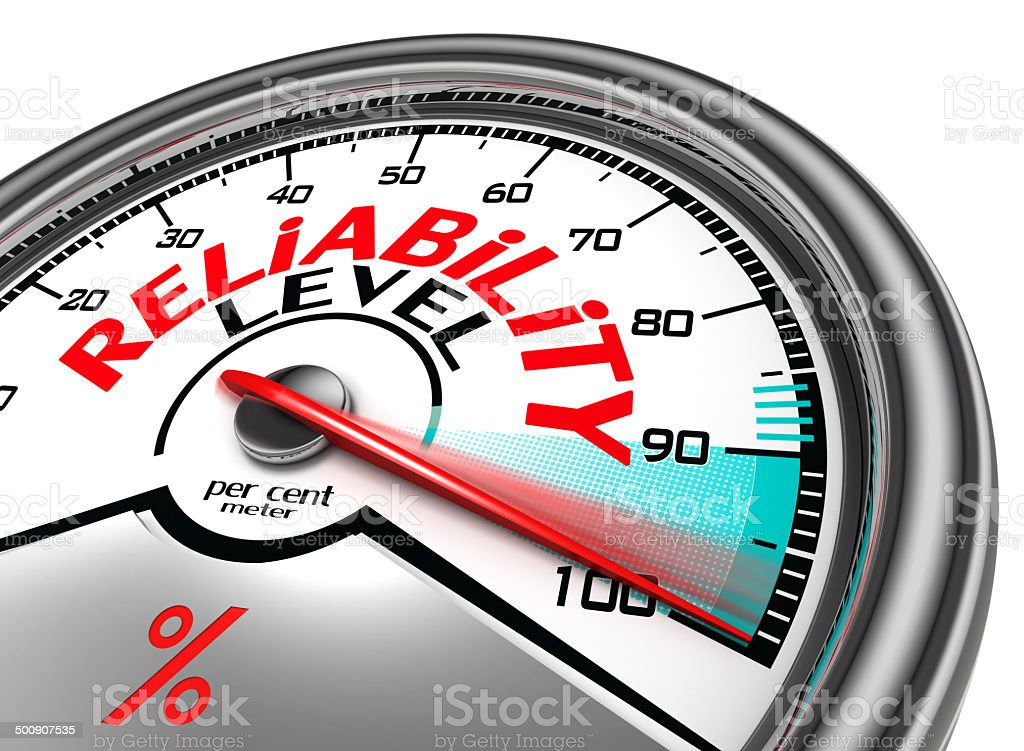 reliability level conceptual meter vector art illustration