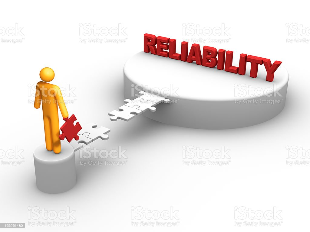 Reliability (isolated) stock photo