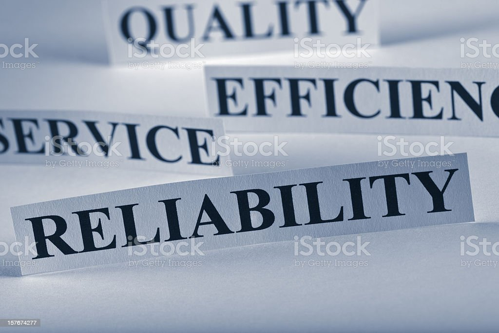 Reliability stock photo