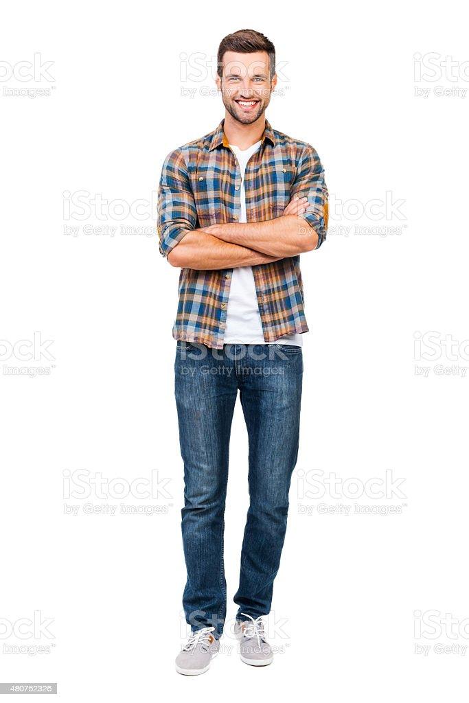 Reliable guy. stock photo