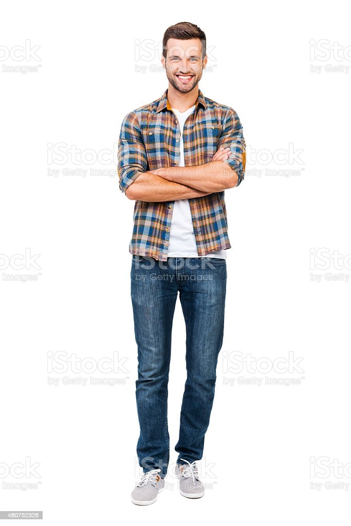 Reliable guy. stock photo