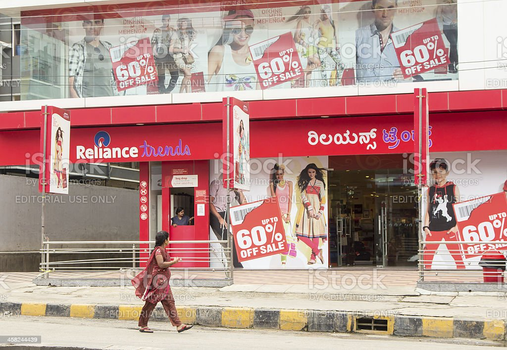 Reliance Trends' store in Bangalore royalty-free stock photo