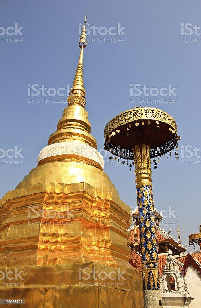 Relic in Wat Pong Sanook at Lampang Thailand royalty-free stock photo