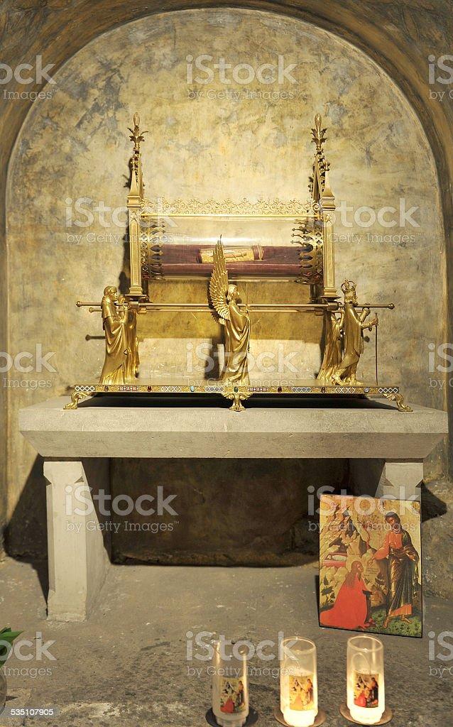 Relic of Saint Marie-Madeleine stock photo