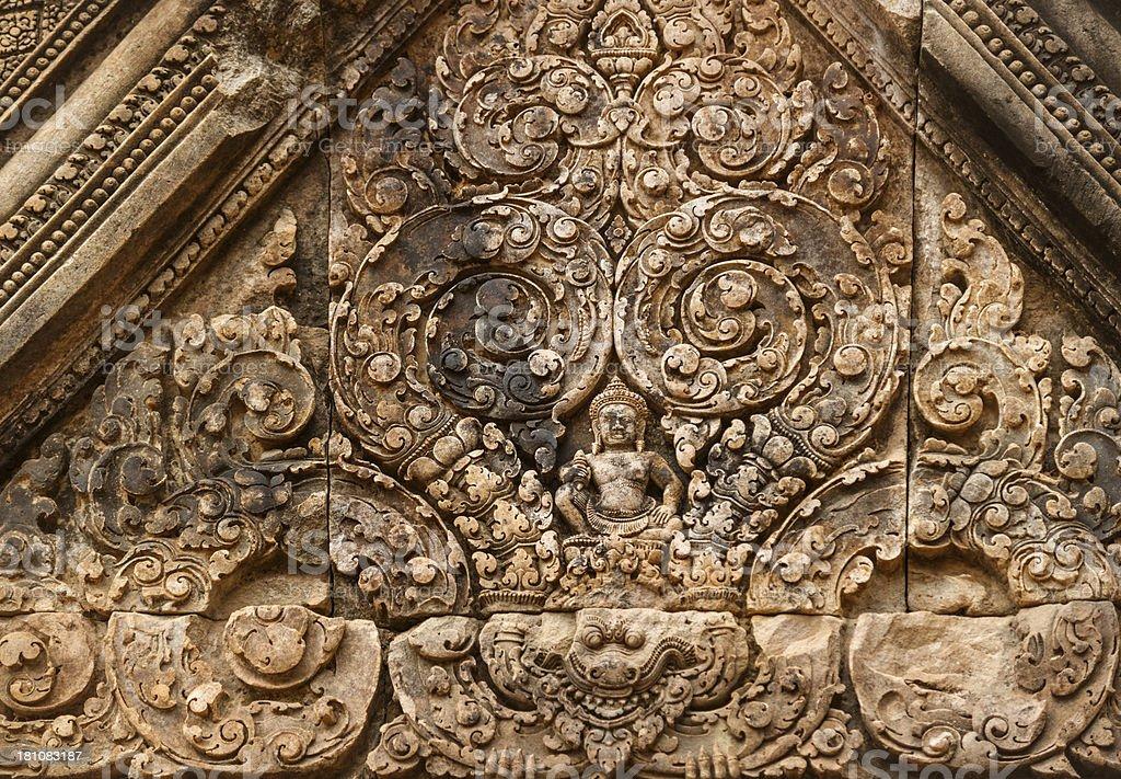relief - Angkor Wat, Cambodia royalty-free stock photo