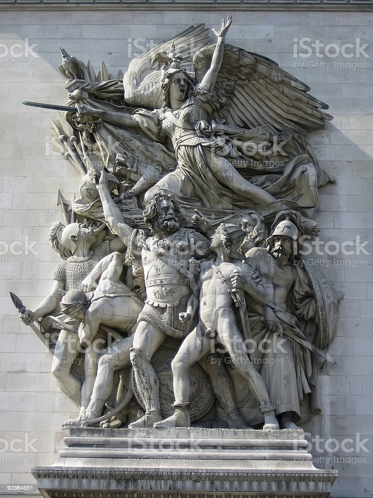 Relief at Arc de Triomphe royalty-free stock photo