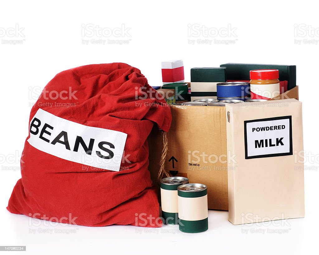 Relief Food stock photo