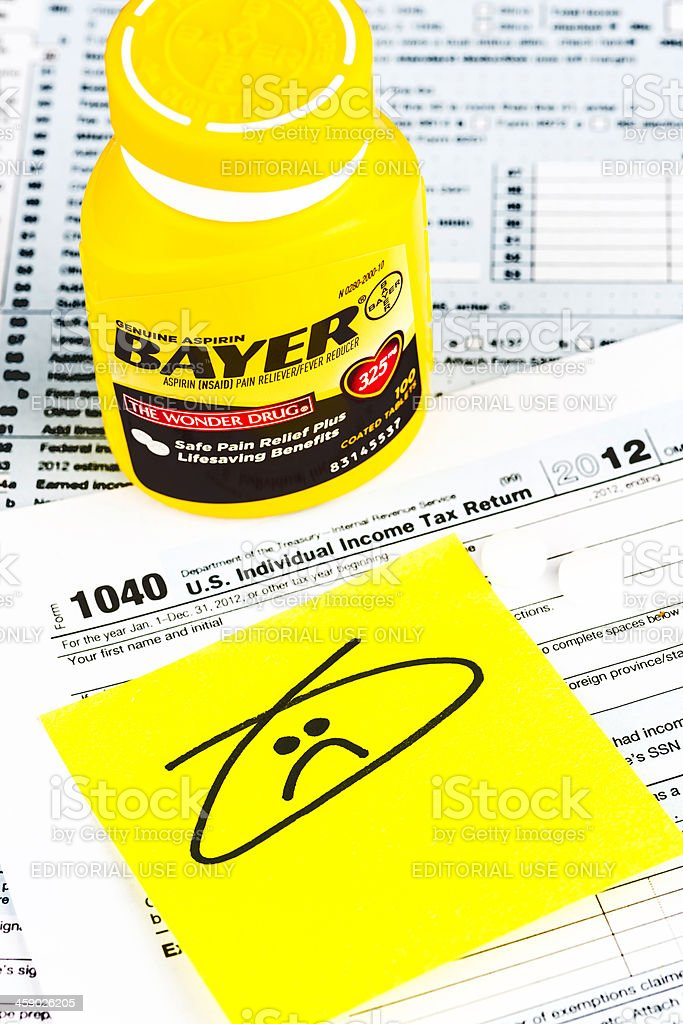 Relief for a Tax Headache royalty-free stock photo