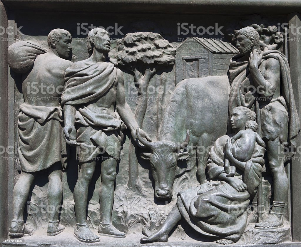Relief made by bronze royalty-free stock photo