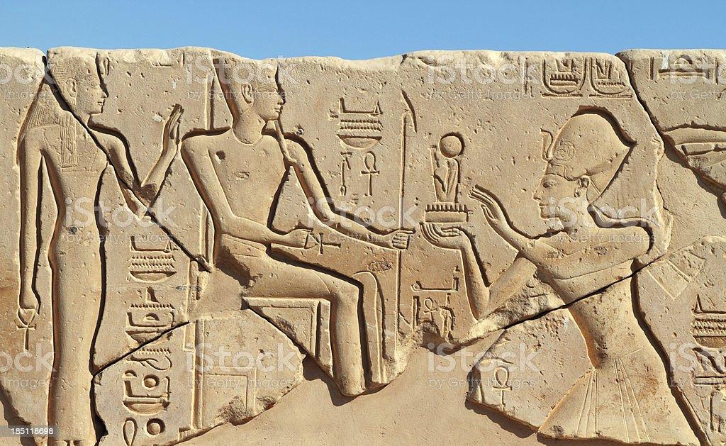 Relief, Mortuary Temple of Seti I, Theban Necropolis, Luxor, Egypt stock photo