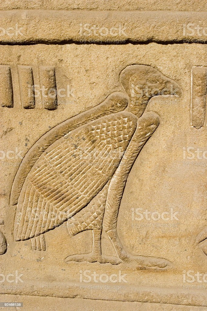 Relief of a Vulture stock photo