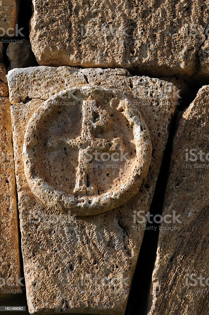 Relief of mausoleum royalty-free stock photo