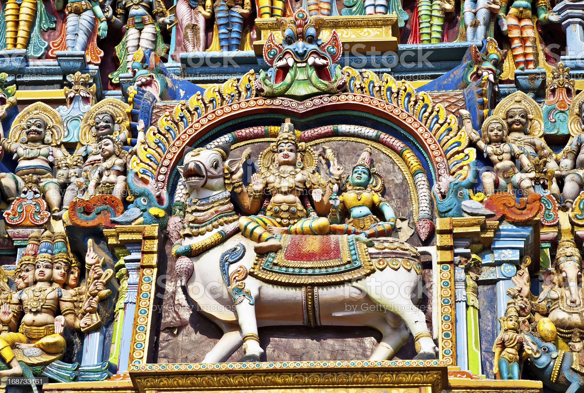 Relief of Menakshi Temple royalty-free stock photo