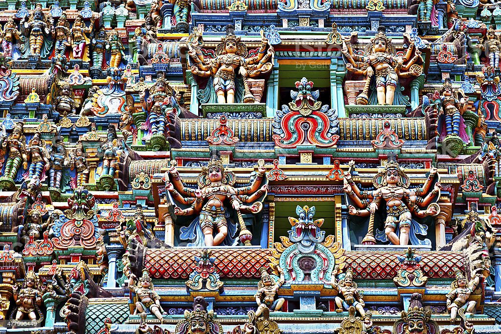 Relief of Menakshi Temple stock photo